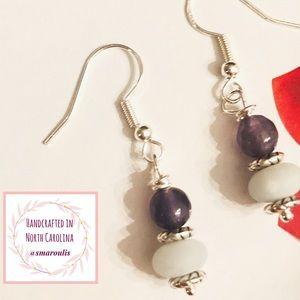 Frontrow.style Jewelry - 💋Sterling Silver Earrings Matte Green Amazonite